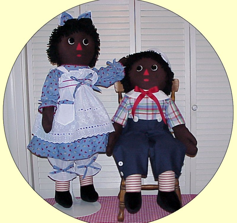 ETHNIC Raggedy Ann and Andy Dolls