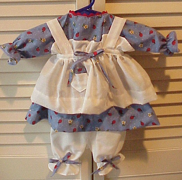 Available Outfit #352 Raggedy Ann Dress with Pinafore